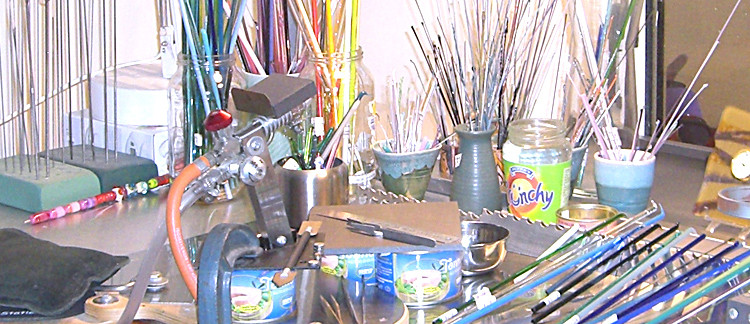 tidied up! A tour of my workspace while it's clean…