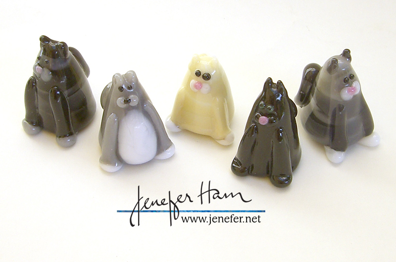 Jenefer Ham's MEOW kitty sculptures