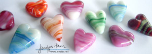 jenefer ham's glass hearts
