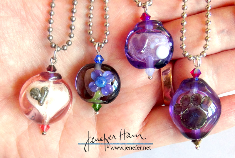 memorial necklaces by Jenefer Ham