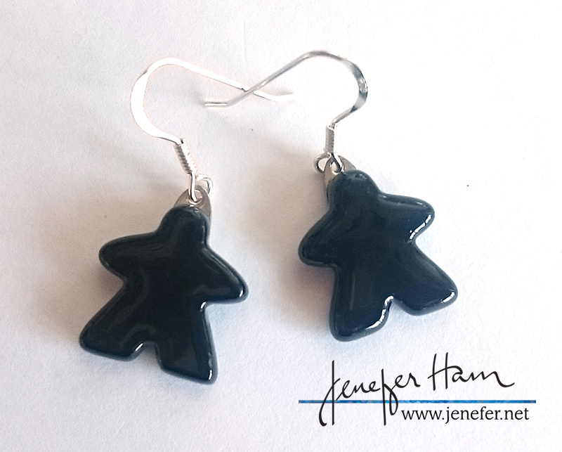 new meeple earrings by Jenefer Ham
