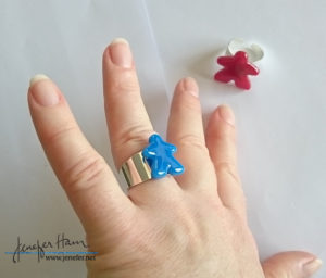 meeple ring by Jenefer Ham Glass