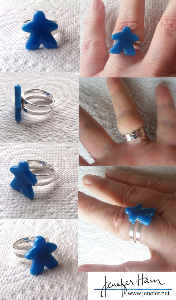 Meeple thick-ring by Jenefer Ham