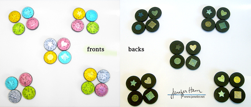 reversible dichroic glass markers