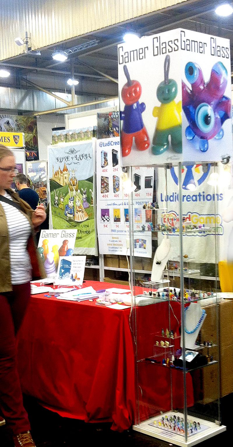 Jenefer Ham Glass at LudiCreations stand at Essen Spiel 2015