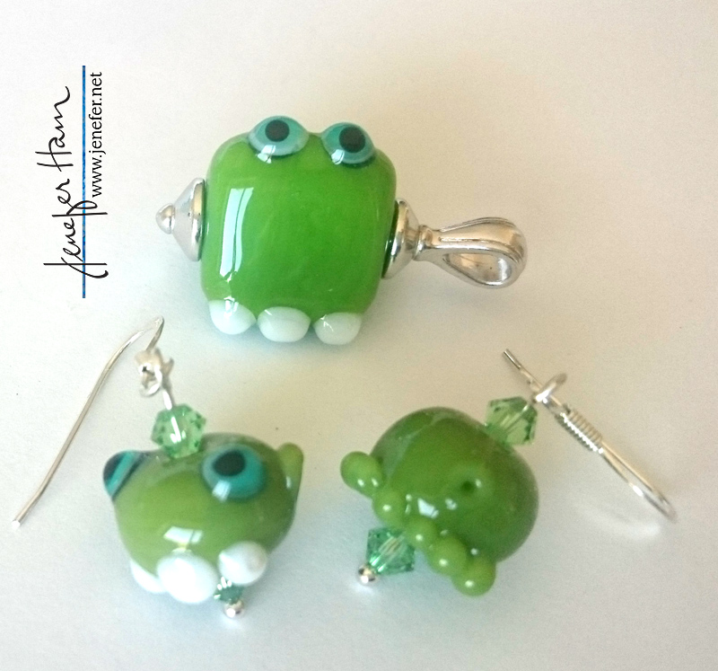 ogre jewelry by Jenefer Ham Glass