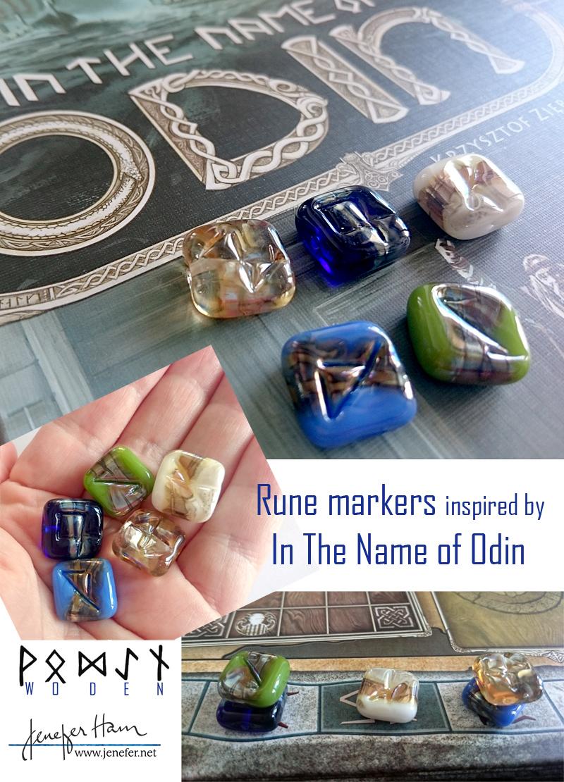 Odin RUNES by Jenefer Ham Glass