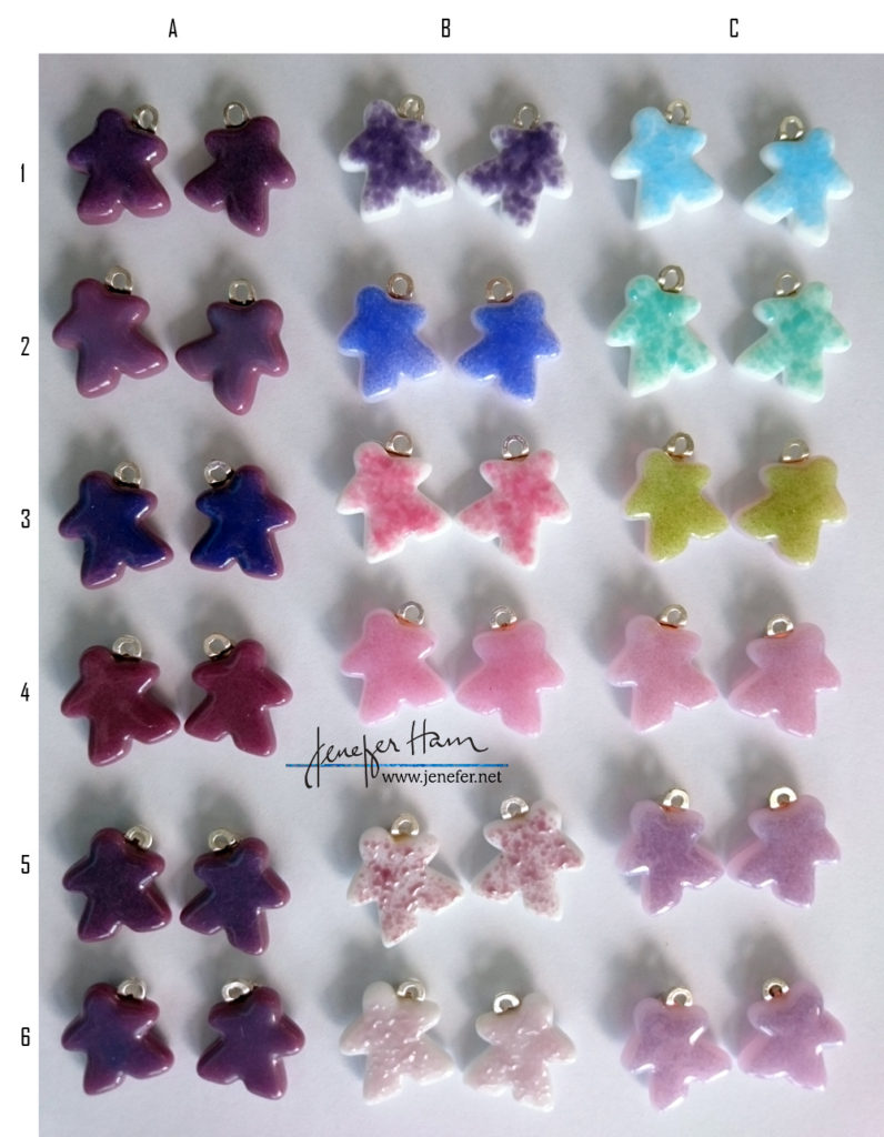 meeple earrings by Jenefer Ham Glass