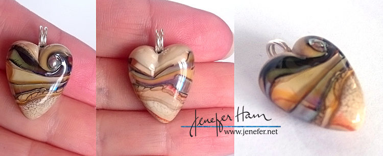 Heart pendant by Jenefer Ham