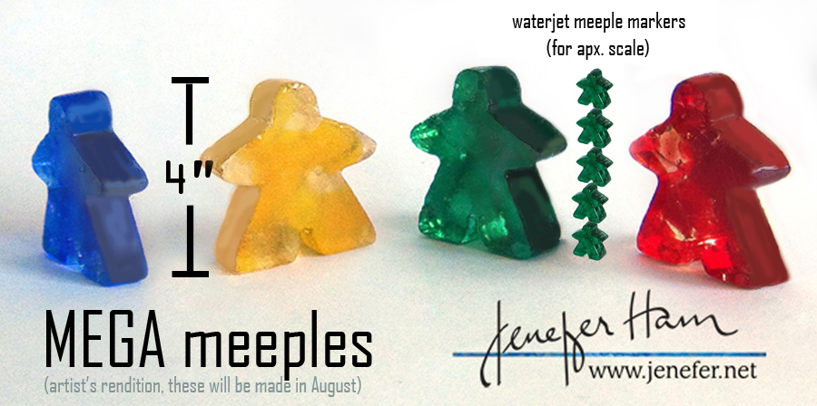 mega meeples by Jenefer Ham