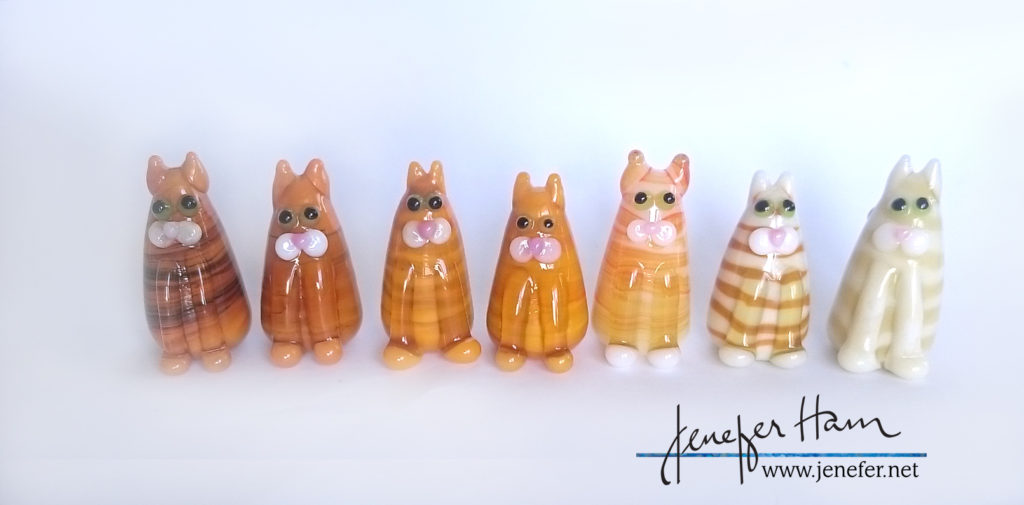bunch-of-ginger-kitties by Jenefer Ham