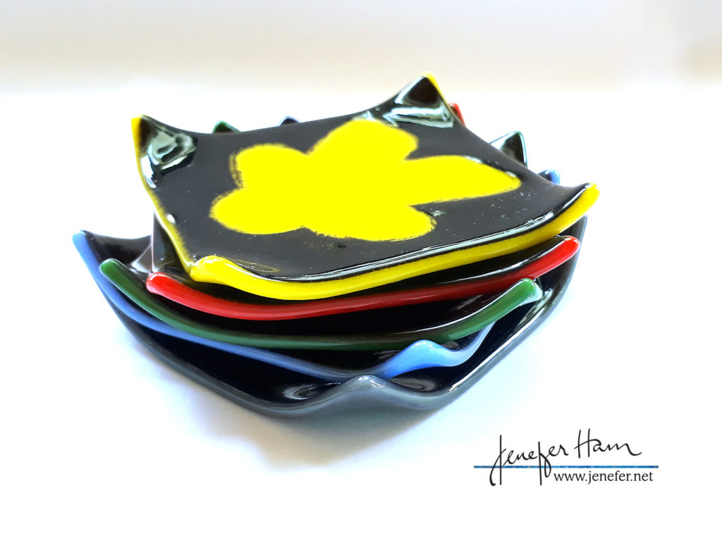 meeple coasters by Jenefer Ham