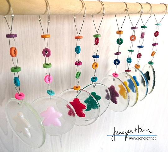 meeple hanging by Jenefer Ham